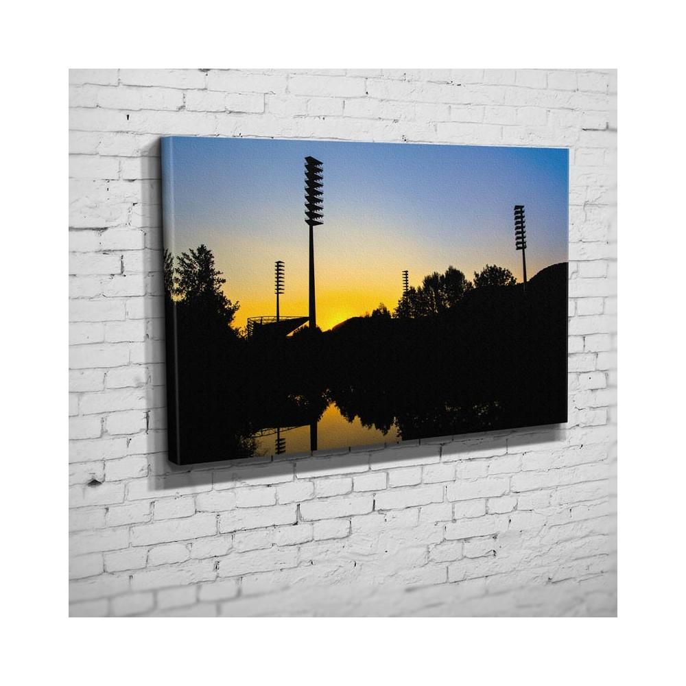 Der letzte Tag der Flutlichtmasten im Ernst-Abbe-Sportfeld (BNR