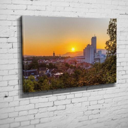 Skyline von Jena zum Sonnenaufgang (BNR 72)-Jena