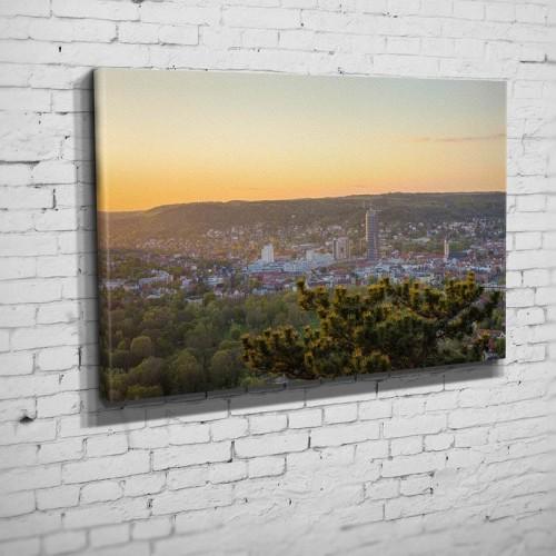 Sonnenuntergang von der Horizontale (BNR 217)-Jena