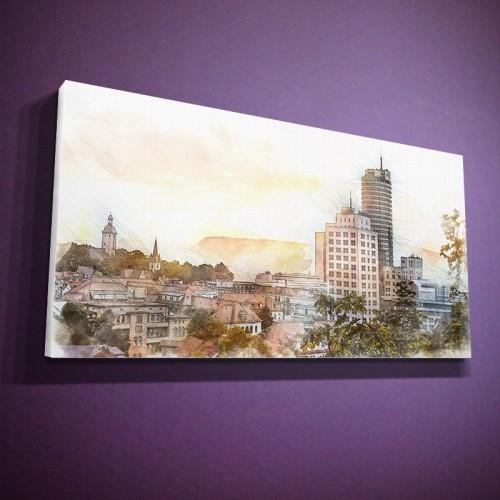 Skyline vom Forstweg - wie gemalt (BNR 174G)