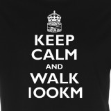 Horizontale | keep calm and walk 100km (Herren/Unisex)