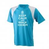 Horizontale | keep calm and walk 100km (Herren/Unisex)