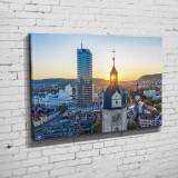 Die Stadtkirche mit Jentower zum Sonnenuntergang (BNR 326)